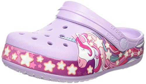 Crocs Unisex-Kinder Funlab Unicorn Band Kids Clogs, Violett (Lavender 530), 28/29 EU