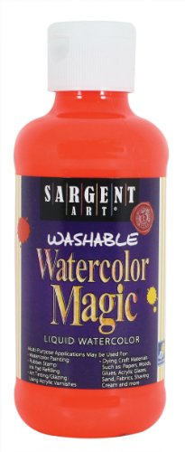 Sargent Art 22-7020 8-Ounce Watercolor Magic, Fluorescent Red