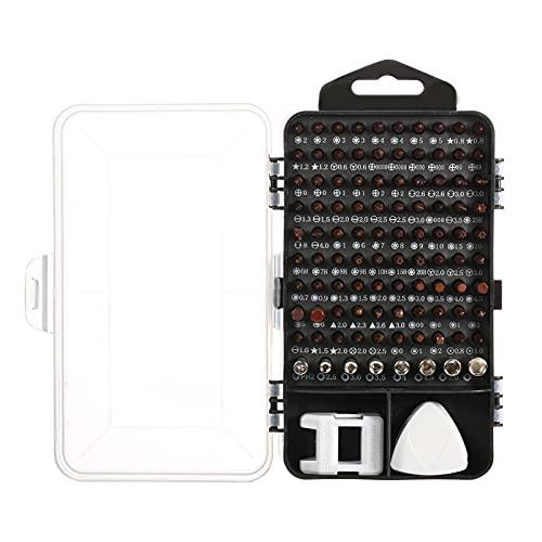 Festnight Herramienta de reparación electrónica Destornillador de precisión bit 117 en 1 Juego de Destornilladores magnéticos para teléfono Tablet PC