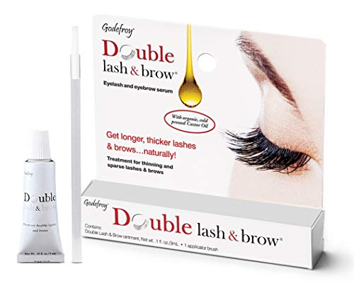 Godefroy Double Lash and Brow Treatment, for longer & thicker eyelash and eyebrows (3ml +...