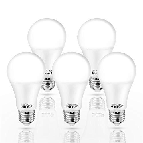Aigostar - Bombilla LED E27 12W, Luz Blanca Fría 6400K,1020 lúmenes, �ngulo 280° - 5 unidades