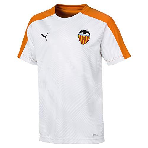 Puma Valencia CF Stadium Primera Equipación 2019-2020 Niño, Camiseta, Puma White-Vibrant Orange, Talla 140