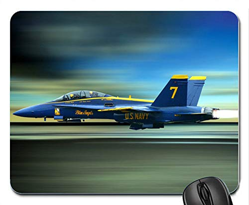 Blue Angels The high Speed Flying Fighter Personalized Rectangle Mouse Pad, Printed Non Slip Rubber Comfortable Customized Computer Mouse Pad Mouse Mat Mousepad