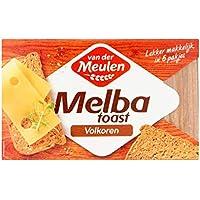 Galletas integrales | Van der Meulen | Melba tostadas de trigo integral | Peso total 120 gramos