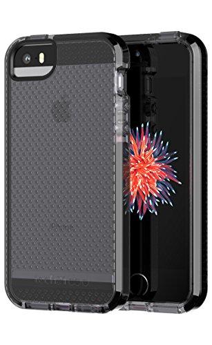 Tech21 Evo Mesh Custodia Protettiva per Apple iPhone 5/5s/SE 2018 Refresh - Grigio Fumo/Nero