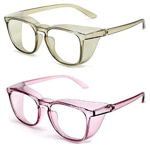 Bias&Belief Pack de 2 Gafas con Bloqueo de luz Azul Gafas para Juegos de computadora Gafas Anti-Fatiga Ocular para Mujeres y Hombres Marco de anteojos para Gafas,A