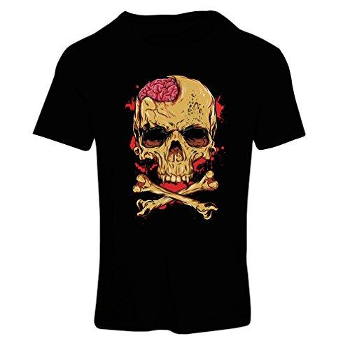 lepni.me Camiseta Mujer La Calavera (X-Large Negro Multicolor)