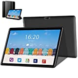 4G Tablette Tactile 10 Pouces, Android 8.1 , 32Go 3Go RAM 8500mAh Tablet PC , Doule SIM, WiFi Bluetooth GPS OTG Tablettes Pas Cher Portable (Noir)