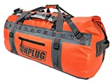 Unplug Ultimate Adventure Bag -1680D Heavy Duty Waterproof Duffel Bag for Boating, Motorcycling, Hunting, Camping, Kayaks or Jet Ski. Gets Gear Through Any Conditions (155L, Adventure Orange)