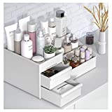 Cosmetic Storage Box White HASPINH Makeup Organizer Storage Case Skin Care Organizer Jewelry,Makeup, Brushes, Lipsticks, Nail Polish Container,Desktop Dresser Sundries Storage Box