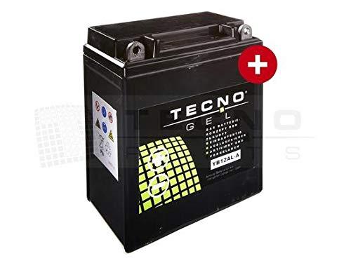 TECNO-GEL Motorrad-Batterie YB12AL-A2 / -A, 12V Gel-Batterie 12Ah (DIN 51213), 134x80x161 mm inkl. Pfand