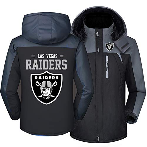 Sudadera con Capucha for Hombres NFL Raiders Team Jersey Winter New Shulleen Chaqueta con Capucha Ropa de la Sudadera con Capucha Servicio de Entrenamiento Team Sweater Plus Velvet Football Team