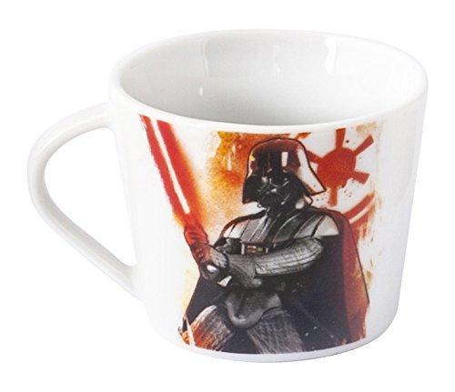 Home Star Wars Tazza tè Decoro Darth Vader, Porcellana, Multicolore, 11x9x7 cm