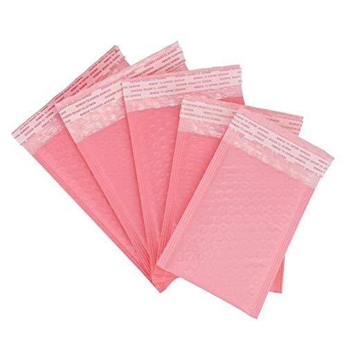 50 Stück pinke Schaumstoff-Briefumschläge, selbstklebende Versandtaschen, gepolsterte Versandtaschen mit Luftpolster-Versandtasche, Versand-Geschenk-Pakete (23 x 28 cm, 50 Stück)