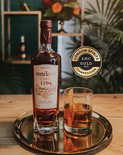Santa Teresa 1796, Solera Rum Venezuelano, Vincitore Medaglia D'oro London Spirits Competition 2021, Confezione con Astuccio, 70 cl