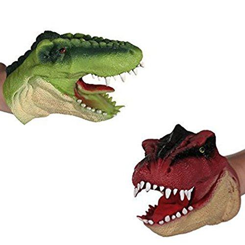2er Set Handpuppe Dinosaurier ca.15 cm Dino Puppe T Rex Fingerpuppe by OOTB