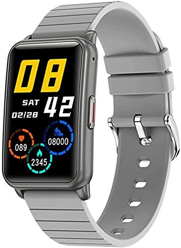 Reloj inteligente con Bluetooth para hombres, pantalla táctil completa IP67, reloj deportivo a prueba de agua, sensor de frecuencia con podómetro para damas, reloj inteligente para Android iOS(B)