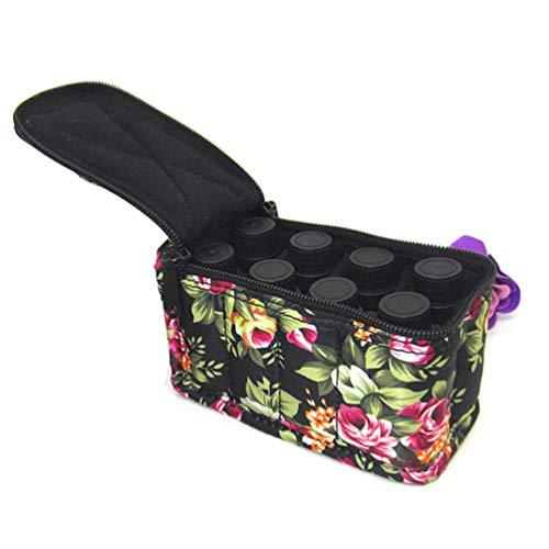 Pixnor Étui de Transport D'huile Essentielle Contient 8 Bouteilles D'huile Essentielle Sac de Maquillage Cosmétique Portable Accessoire de Voyage