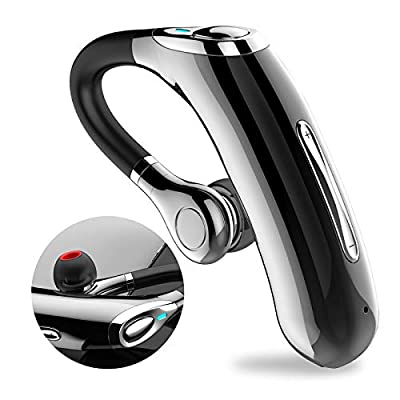 Bluetooth Headset V5.0,Wireless Headset Bluetooth Earpiece Long Lasting Calls,HD Voice,Powerful Noise Cancellation,Custom fit for All-Day Comfort,Hands Free Bluetooth for Cell Phone,Bluetooth earpiece from MICOOL