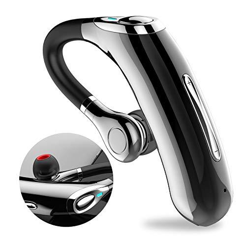 Manos Libres Bluetooth Auricular 5.0, Pinganillos Bluetooth para Movil Voz HD, 10 Hrs Talking y 12 Días en Espera, Auriculares Inalámbricos con Micrófono para iPhone Android, Oficina en Casa