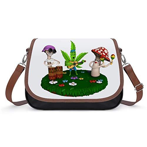 Happy Marihuana - Bolsos vintage para mujer, bolso de hombro retro, bolsa de axilas
