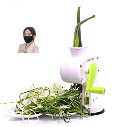 Hoho com green onion mandoline slicer.potato. Peelers .Vegetable .Chopper .Cutter, Shredder (White) / gift (mask)