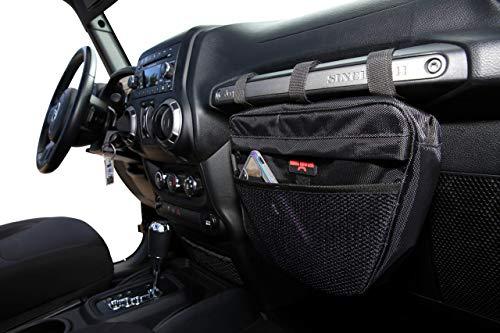 Badass Moto Waterproof Storage Organizer Bag Compatible with Jeep Wrangler 1965-2006 TJ CJ. Cell Phone & Sunglasses Holder. Passenger Dash Grab Bar Mount. Gifts Accessories for Men & Women.