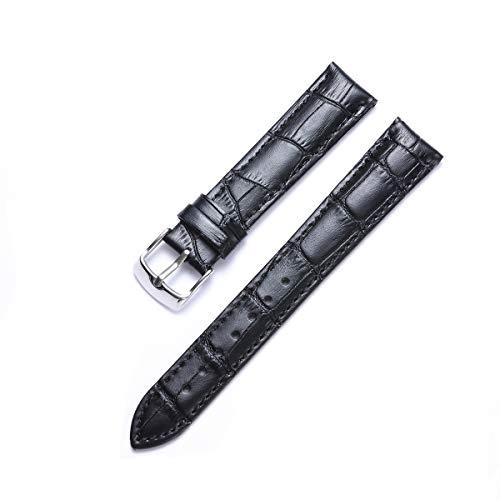 binlun Piel auténtica de Repuesto Reloj Banda (12mm, 14mm, 16mm, 17mm, 18mm, 19mm, 20mm, 21mm, 22mm, mm, 24mm)