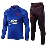 L-YIN La mitad de tracción Jersey Suit Football Club Training deportes al aire libre de los hombres (Tops + Pants) -A0193 Chándales (Color : Blue, Size : XL)