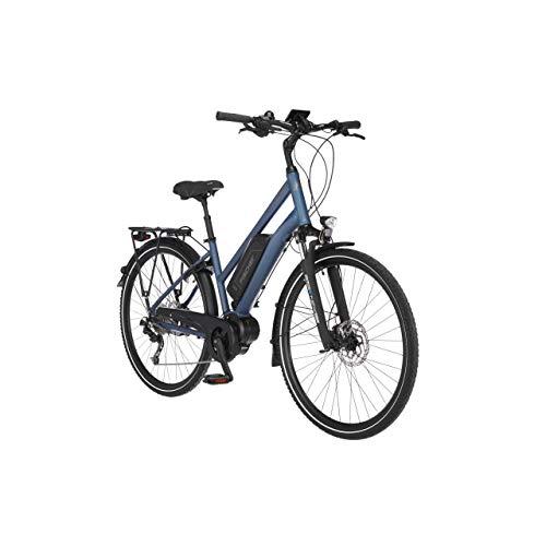FISCHER Damen - Trekking E-Bike ETD 1820.1, Elektrofahrrad, saphirblau matt, 28 Zoll, RH 44 cm, Mittelmotor 50 Nm, 48 V Akku
