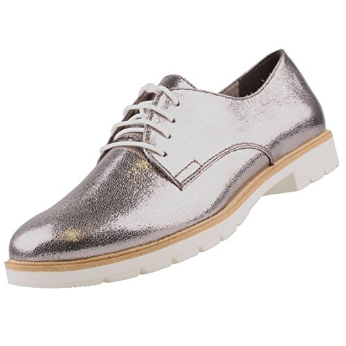 Tamaris Damen Schnürschuhe Silber, Schuhgröße:EUR 41
