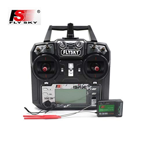 FLYSKY FS-i6X 10CH 2.4GHz RC Transmitter Controller/W iA10B Receiver Upgrade Cable for RC Helicopter Plane Quadcopter Glider