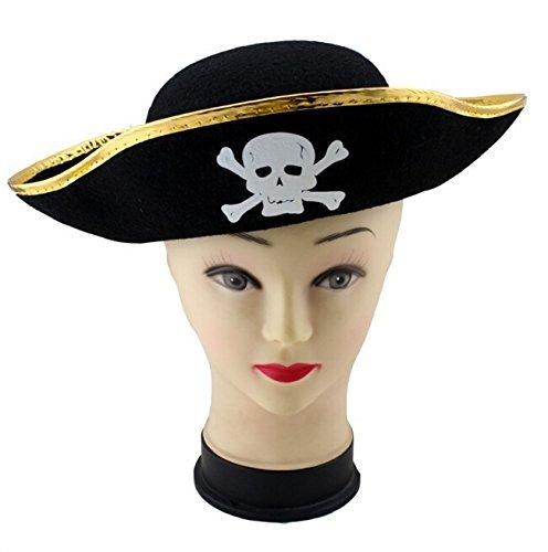 skyllc® Parti Cosplay Props Halloween Masquerade Pirate Chapeau de Feutre Kid