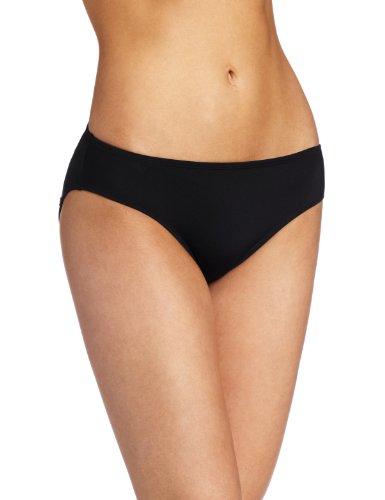 JAG Women's Solid Bikini Swimsuit Bottom, Black, Large