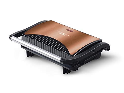 Team Kalorik TKG SWM 1050 CO elektrische contact- en tafelgrill | sandwichtoaster | Paninimaker, 700, koper