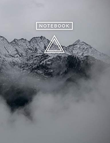 Aesthetic Art Journaling: Light Weight Mountain Hiking Composition Book | 150 Unlined/Drawing Pages | Snowy Mountain Clouds