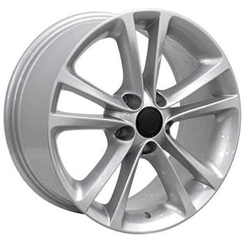OE Wheels LLC 17 Inch Fits Volkswagen GTI Jetta EOS CC Tiguan Rabbit Passat Golf Beetle VW CC Style VW19 Painted Silver 17x8 Rim Hollander 69888