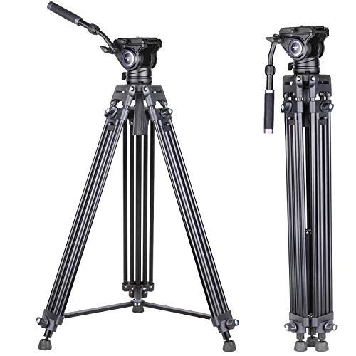 INNOREL VT80 Trípode de vídeo profesional de aluminio con cabezal de vídeo...