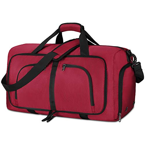 NEWHEY Borsone da Viaggio Pieghevole 40L 65L 80L Impermeabile Borsone Palestra Grande Borsa Sportiva Uomo Donna per Campeggio Viaggio Vacanza