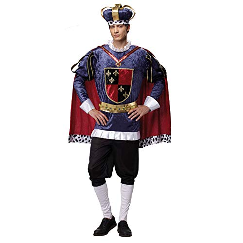 My Other Me Me-201251 Medieval Disfraz de Rey de Lujo para hombre, M-L (Viving Costumes 201251)