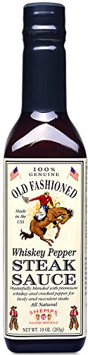Old Fashioned Whiskey Pepper Steak Sauce, 10 oz (6 Pack)