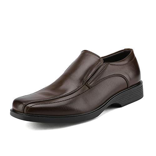 Bruno Marc Herren Mokassins Halbschuhe Klassischer Anzugschuhe Loafer Slipper Dunkelbraun Größe 10.5 M US / 44 EU CAMBRIDGE-05