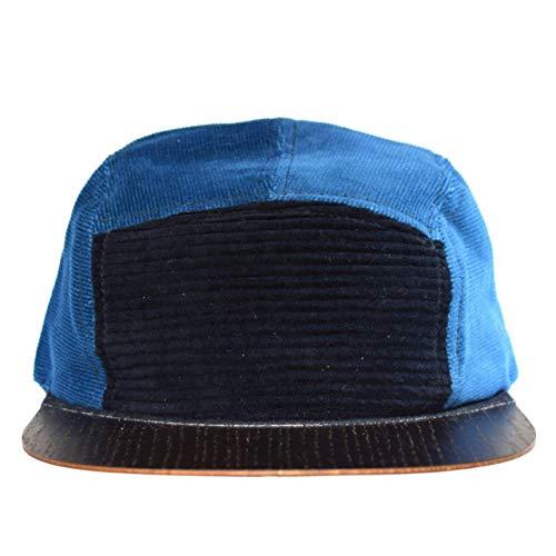 Cap unisex Made in Germany - Vintage Cap blau mit edlem Holzschild - Sommercappy