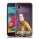 Head Case Designs Licenciado Oficialmente Star Trek Media Pose Capitán Kirk Carcasa de Gel de Silicona Compatible con Samsung Galaxy A2 Core (2019)