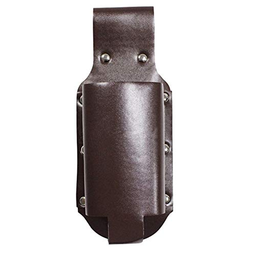 Gebuter Beer Holster, PU Leather Portable Classic Beer Holster Bottle Holders, Hands Free Beverage Holder, Beer Bottles Cans Beverage Holder Soda Belt Drink Waist Bag Travel Pouch