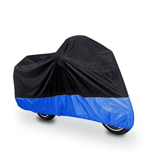"uxcell XL 180T Rain Dust Protector Black Blue Scooter Motorcycle Cover 96"" for Yamaha Honda Suzuki Kawasaki Ducati Bmw"