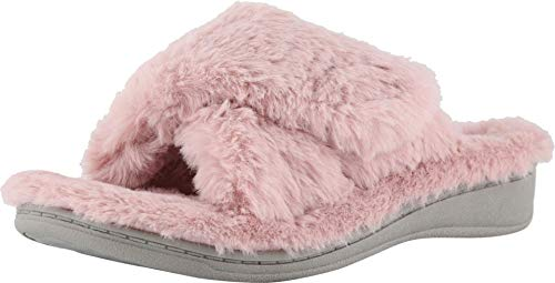 Vionic Women's Indulge Relax Plush Slipper - Adjustable Slipper with Concealed Orthotic...