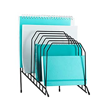 Mindspace Multi Step File Organizer | Desk File Organizer | Stackable Letter Tray | The Wire Collection Black