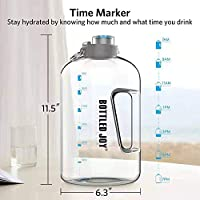 Bottiglia d Acqua, GHONLZIN Water Bottle 2.5 L Borraccia sportiva acqua con Indicatore del Tempo Bottiglia d'Acqua Senza BPA per Corsa, Ciclismo, Lavoro e Palestra #1