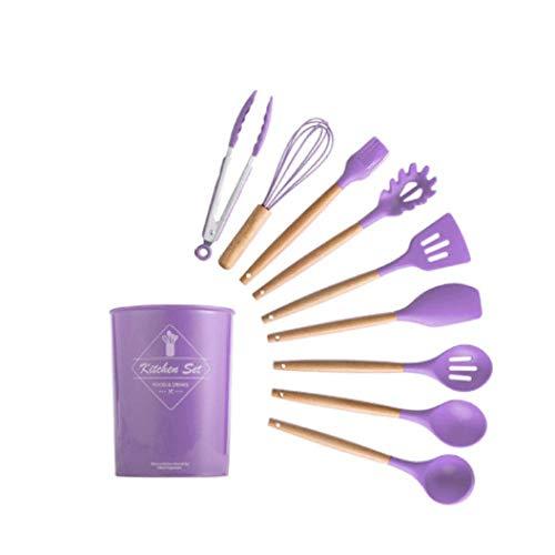 Utensilios Cocina Silicona,Juego de utensilios de cocina de silicona, utensilios de cocina antiadherentes resistentes al calor, herramientas para hornear con caja de almacenamiento, utensilios de coc
